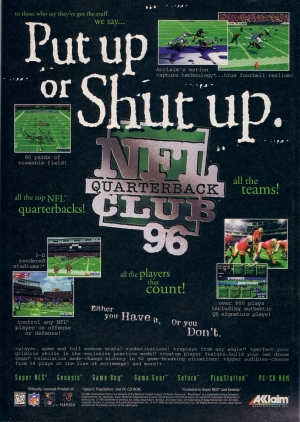 NFL Quarterback Club '96